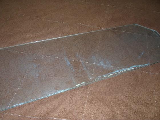 水槽のガラス蓋
